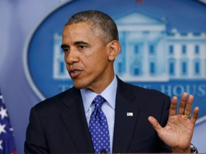 64831d902 US President Barack Obama speaks about the situation in Iraq from the  briefing room of the